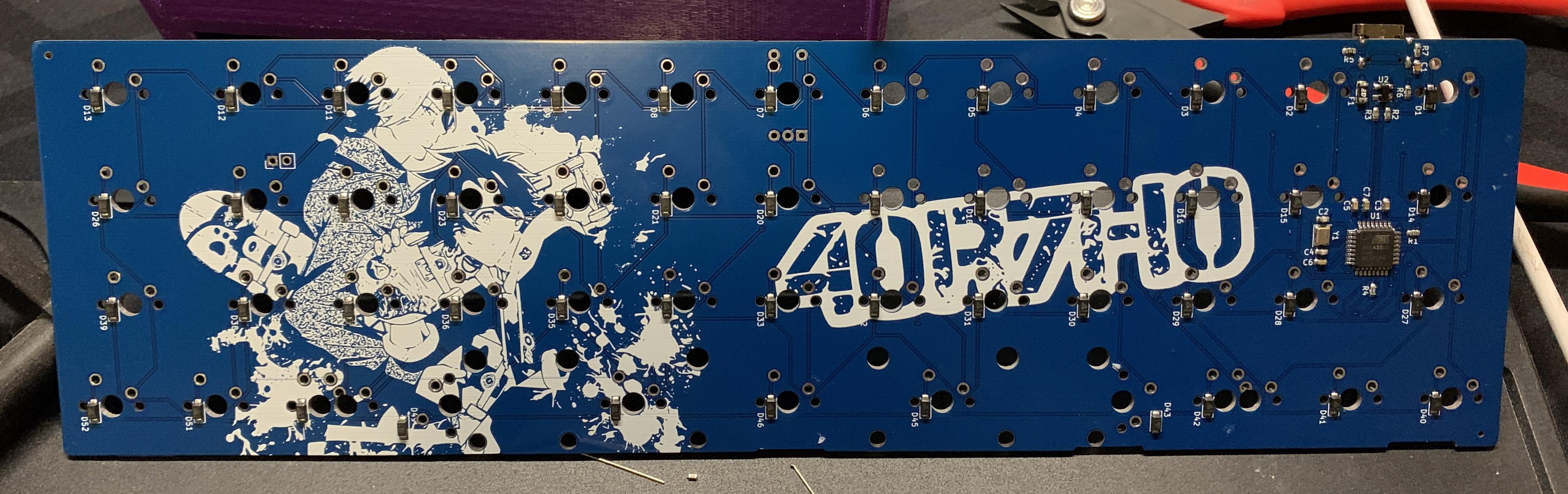Back of a rev 1 40R7H0 PCB