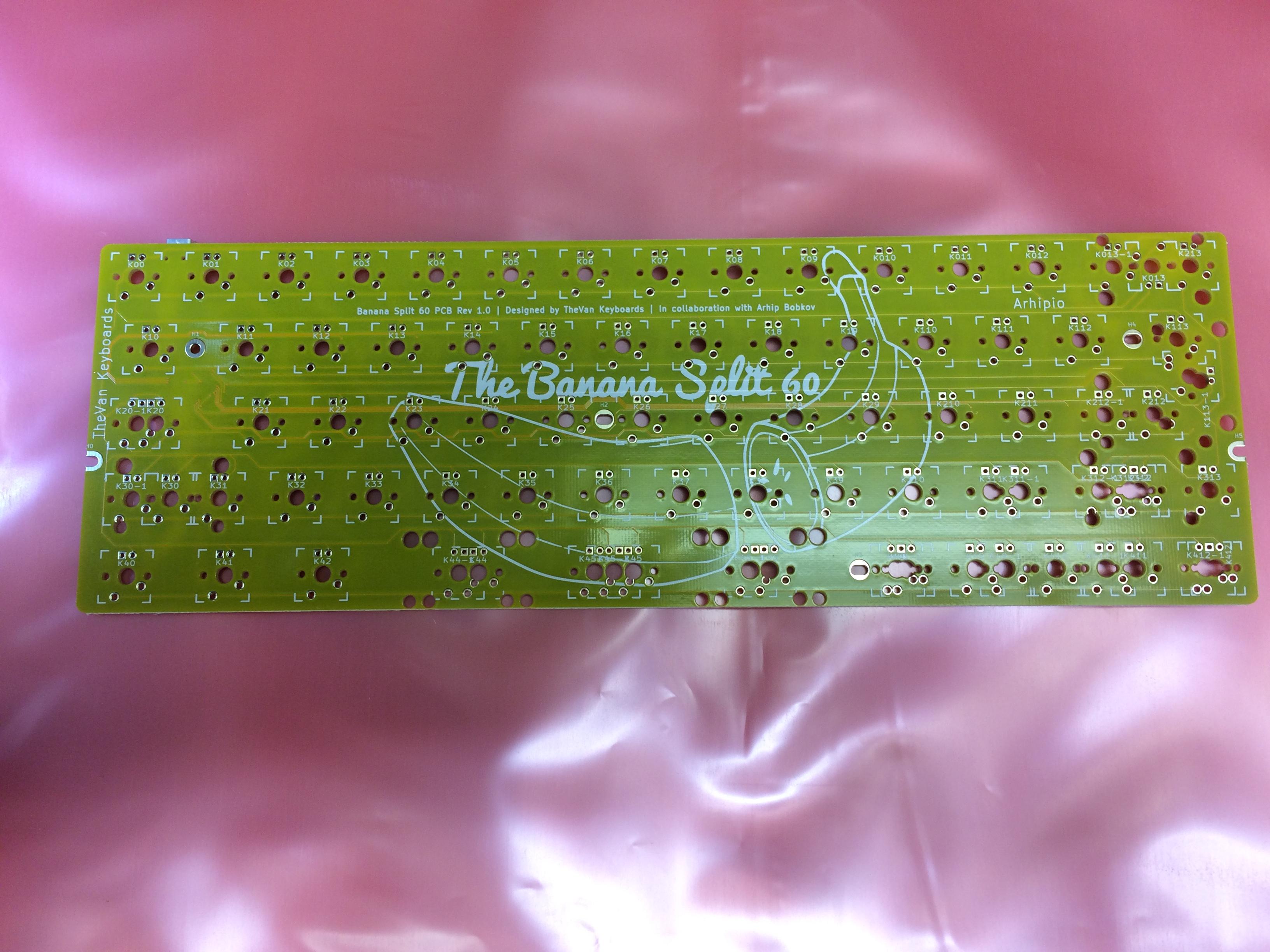 Banana Split rev 1.0 PCB front