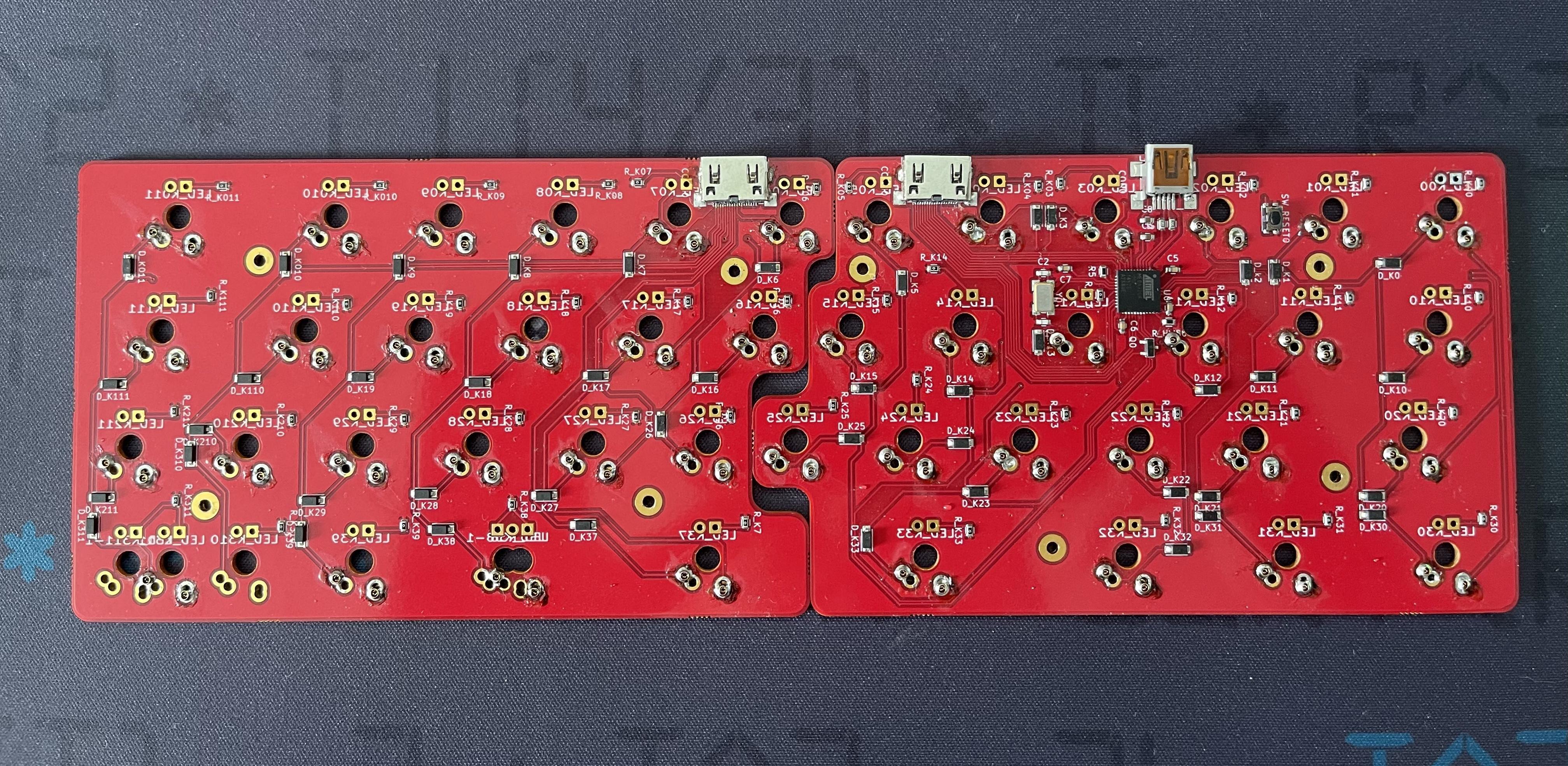 CaraVan prototype PCB back