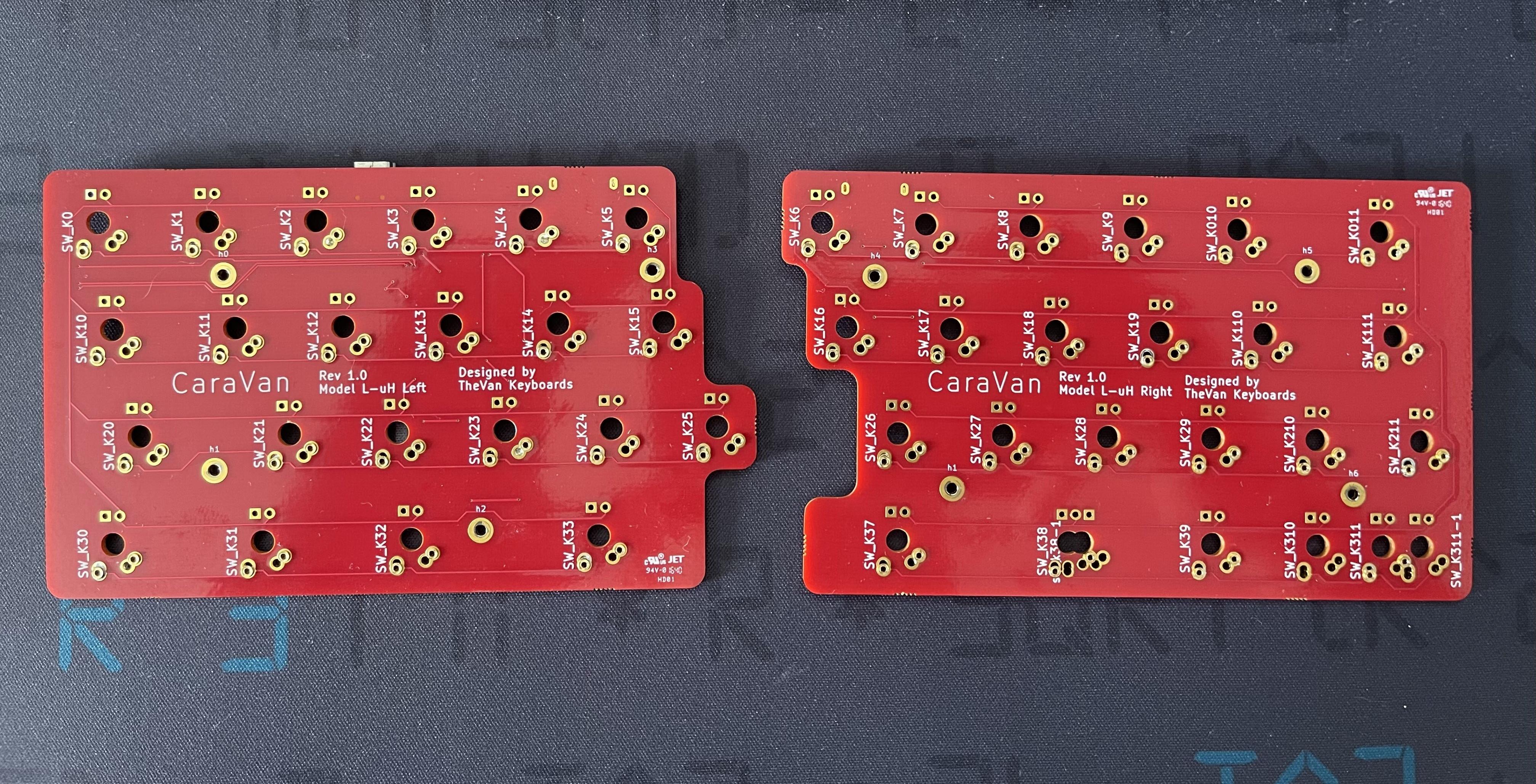 CaraVan prototype PCB front