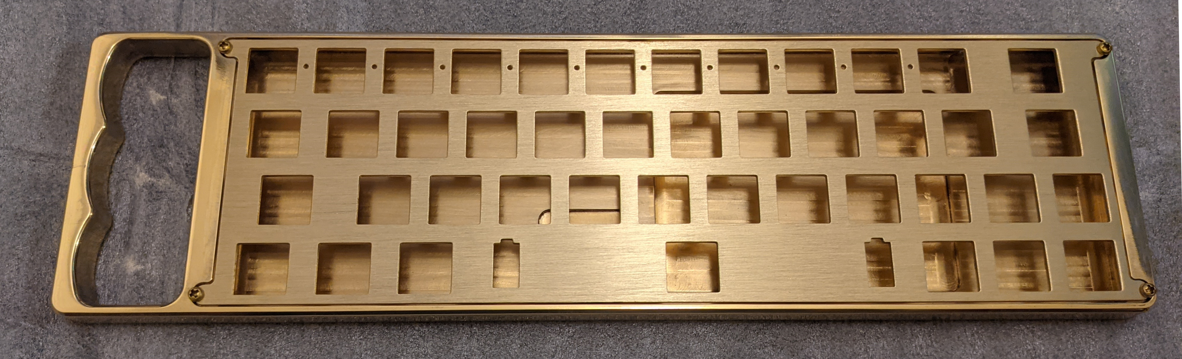 Brass Knuckhull with the optional brushed brass plate