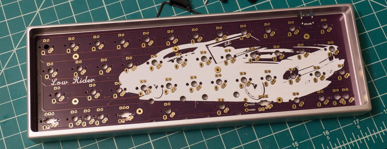 Low Rider PCB in an aluminum MiniVan case