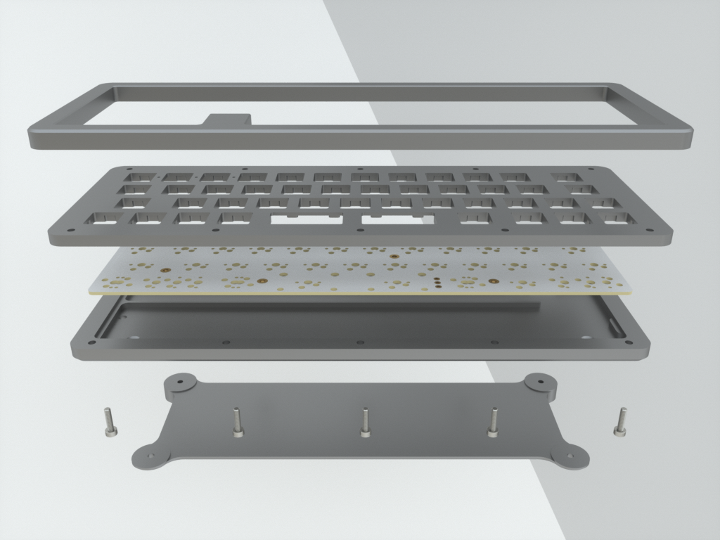 Side view of a brass Rackmount to show thickness