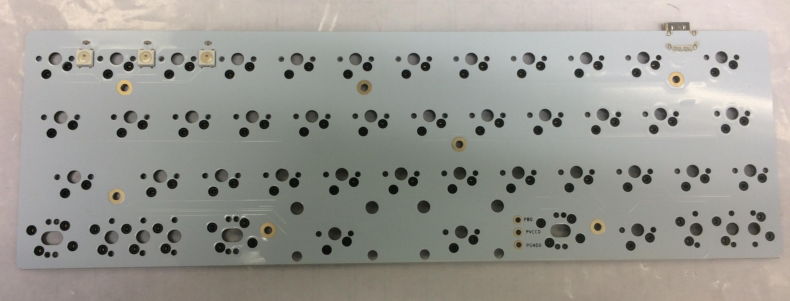 Front of the MiniVan HS Rev 1.1 PCB
