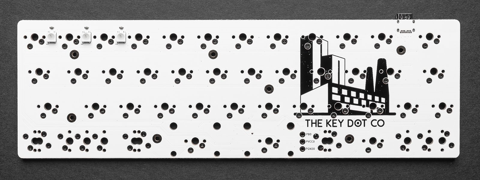 Front of the TheKey.Company-produced MiniVan PCB