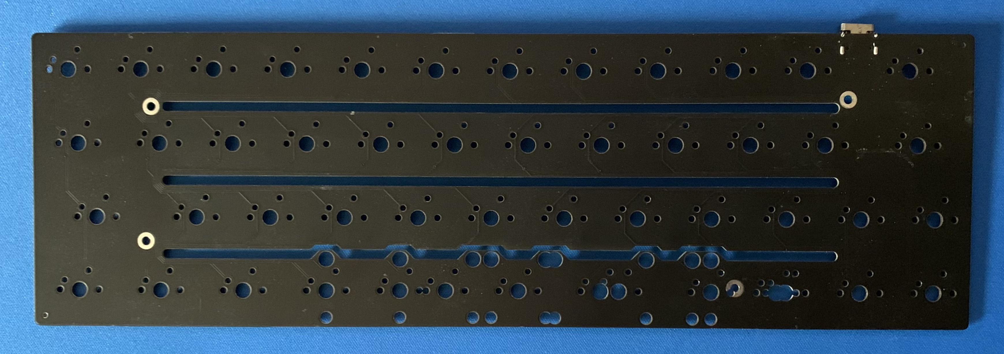 Front of the prototype Model-V PCB