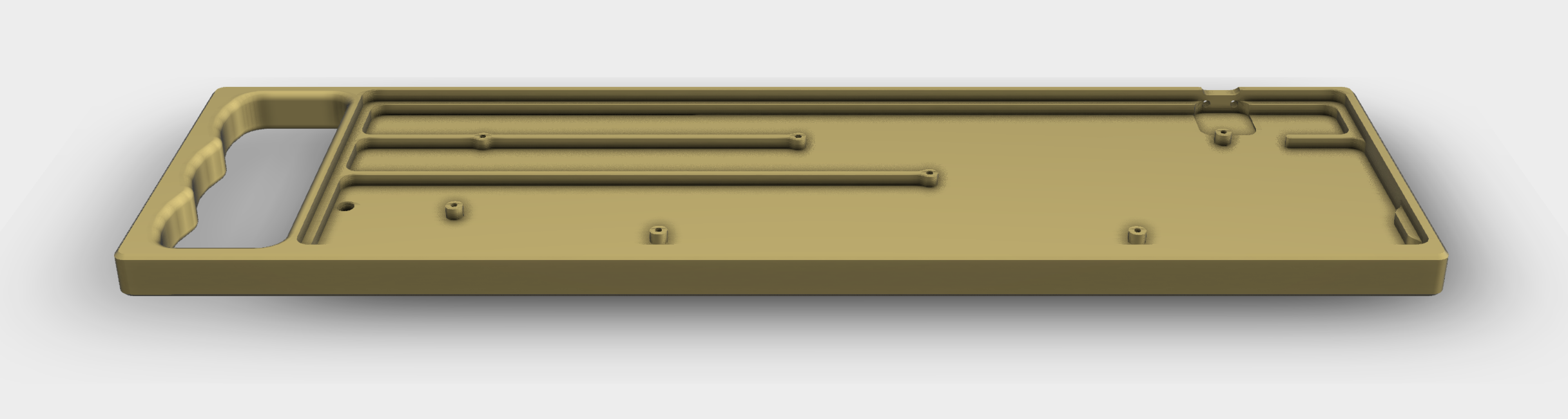 Render of the Sketchport Shuttle showing modified USB port location
