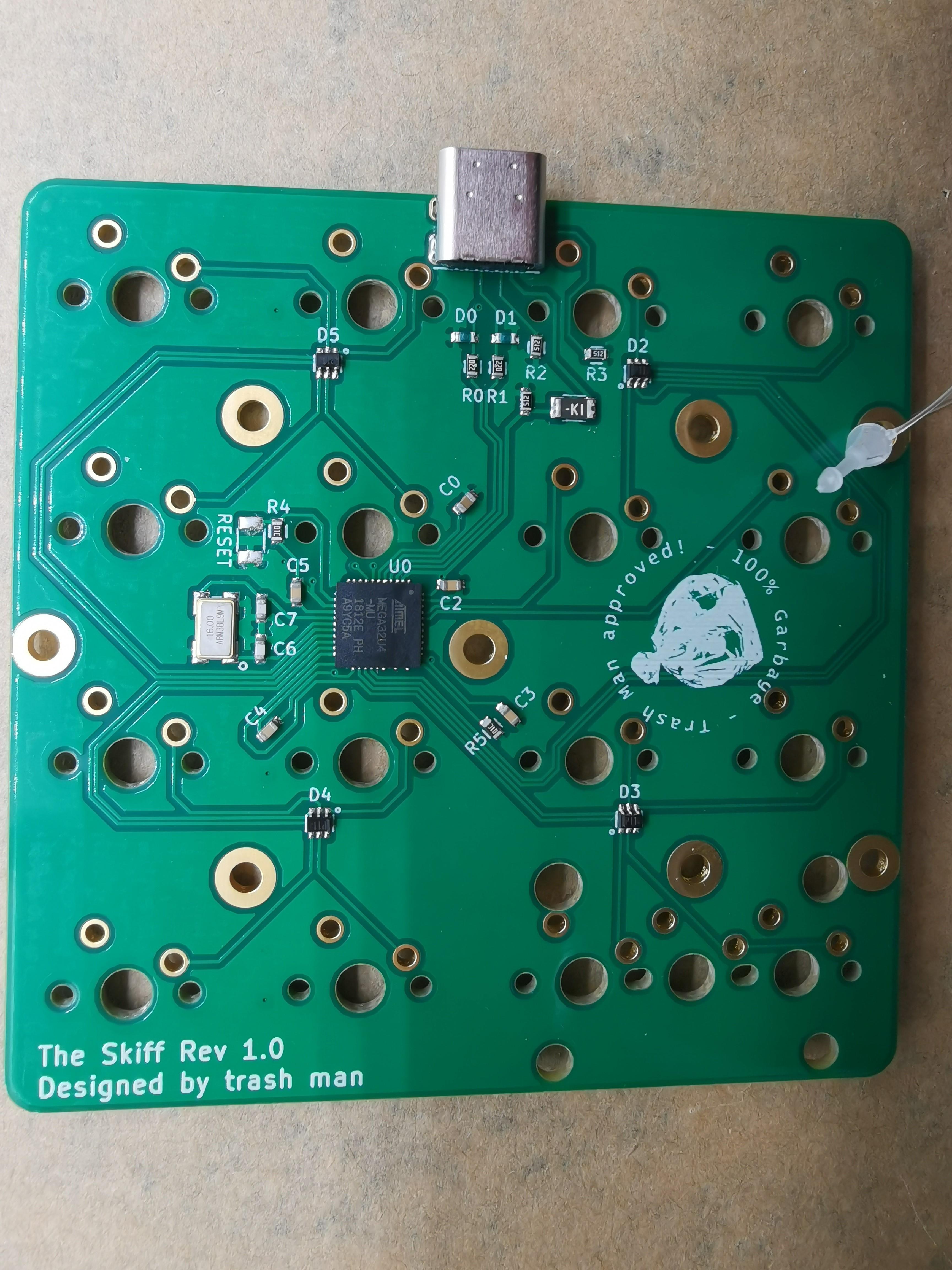 The Skiff PCB back