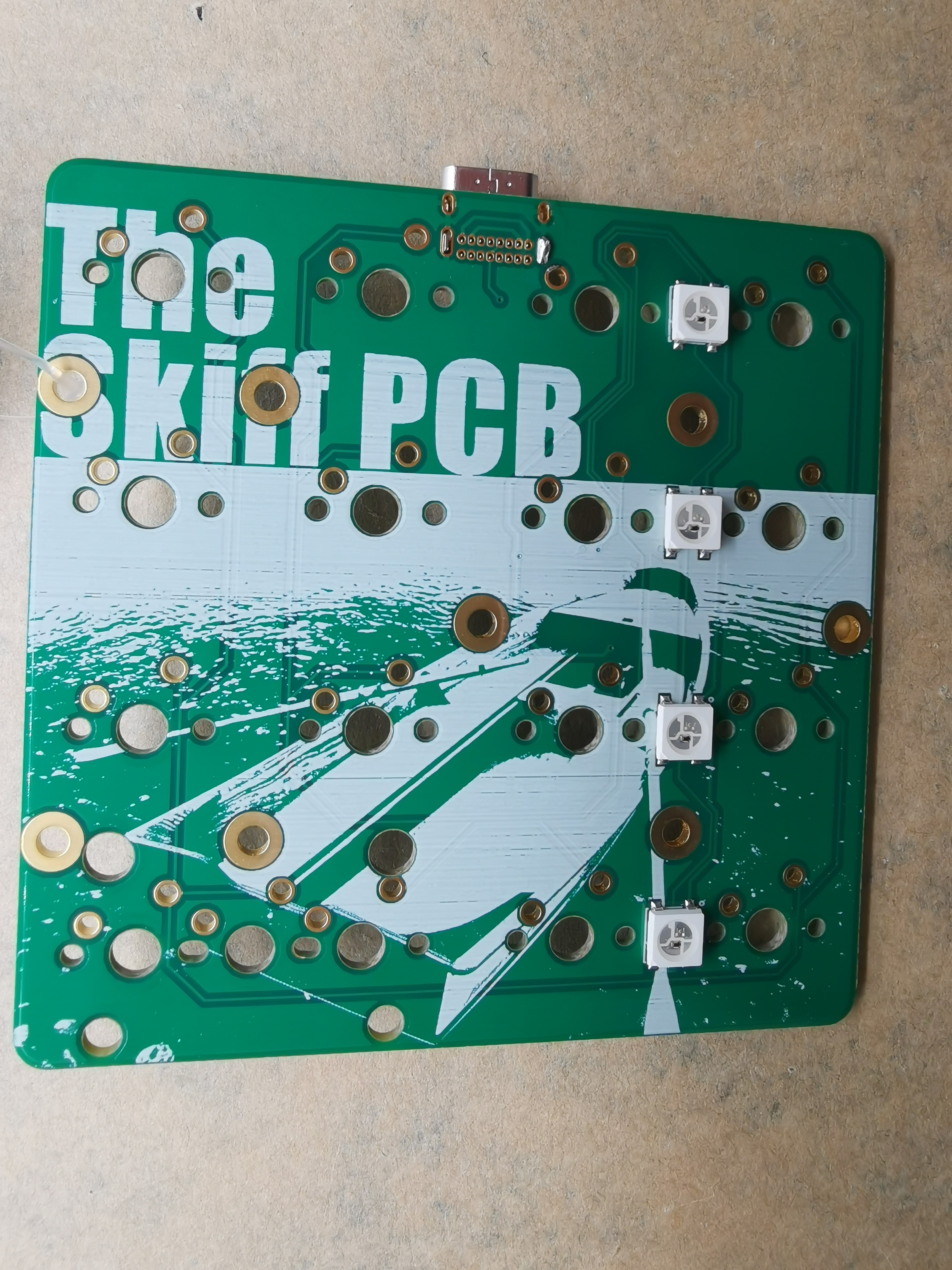 The Skiff PCB front