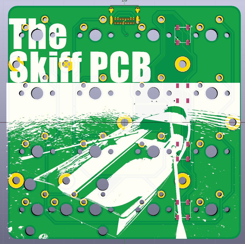 The Skiff PCB render