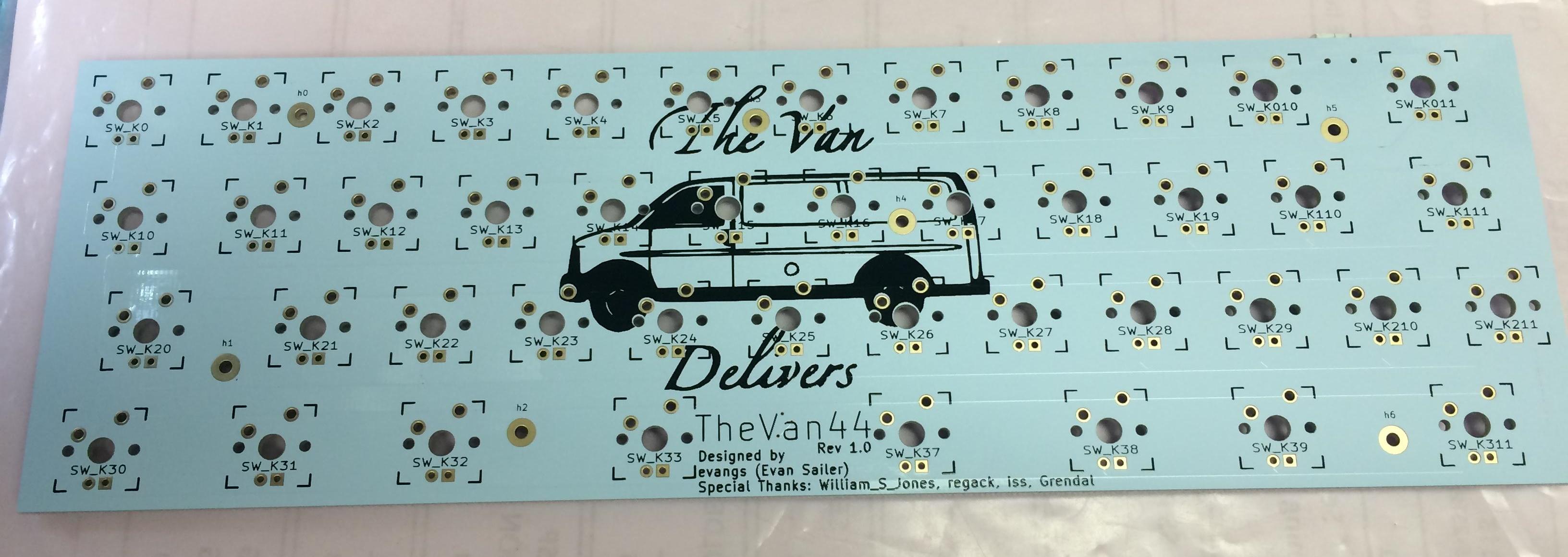 TheVan44 Rev 1.0 front