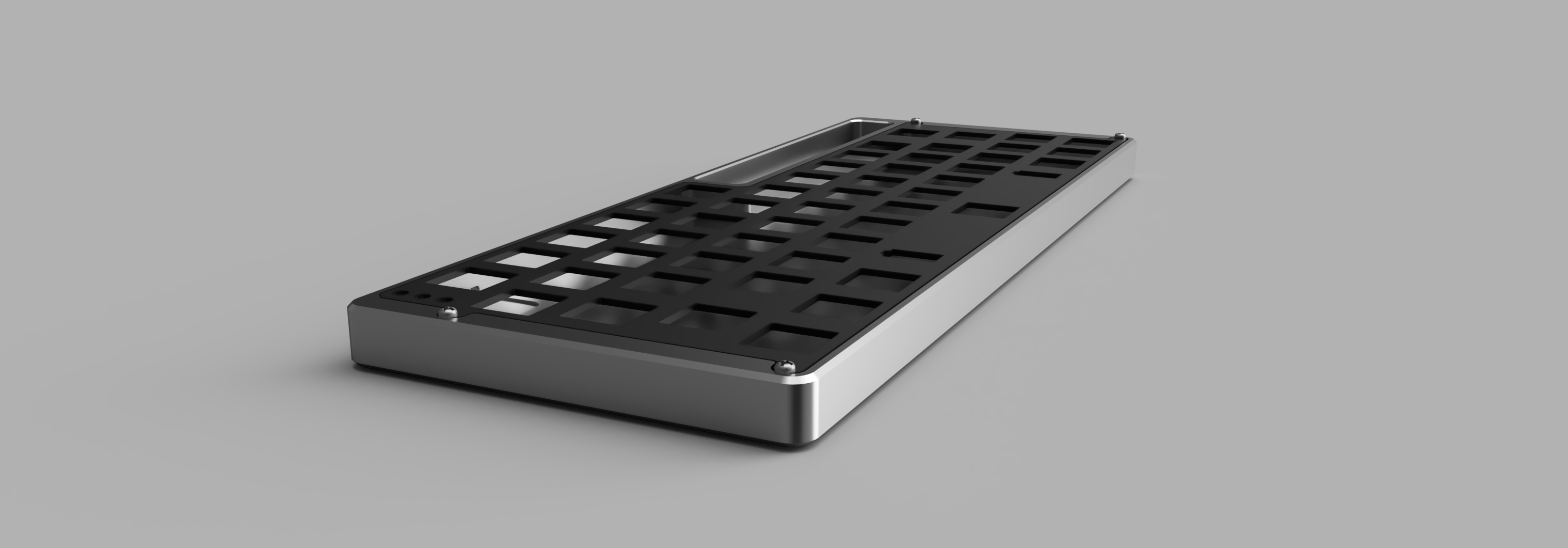 Another render showing the low profile design of the case