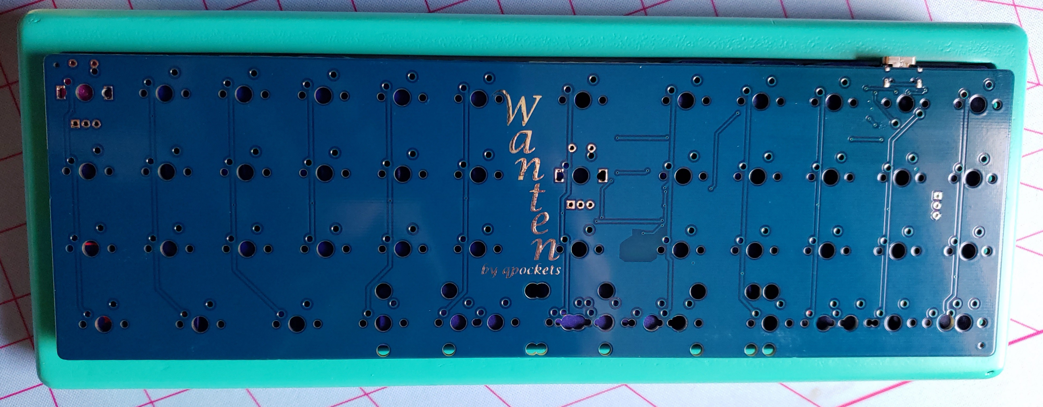 Front of the prototype Wanten PCB